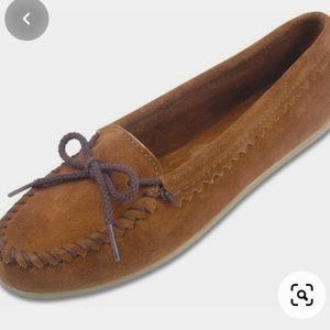 Minnetonka suede loafers